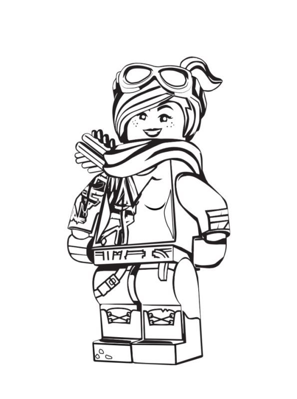 Kids N Fun Com Coloring Page Lego Movie 2 Lucy 2 Lego Movie Coloring Pages Lego Coloring Lego Coloring Pages
