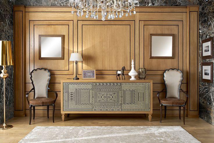 Soggiorno Pompeivm Ornamenta dinning-room in solid wood oak arvestyle New design Fiera Milano 2016