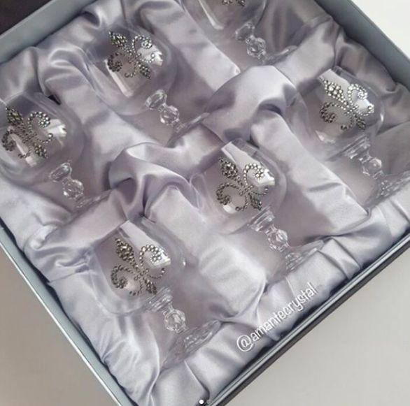 Шикарный подарочный набор коньячных фужеров с кристаллами #сваровски⚜️ Цена 9750₽, в наличии в #диамантнакомсомольской, Волгоград #подаркиamantecrystal Приятных покупок!  #amantecrystal #swarovski #сваровски