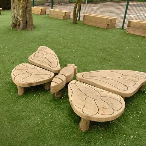 Butterfly playground structure