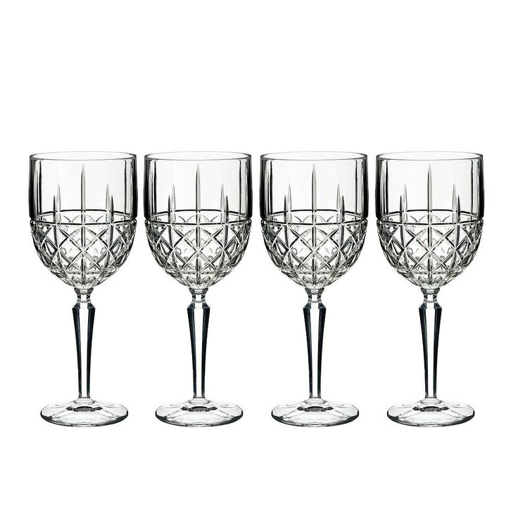Marquis by Waterford Brady 4-pc. White Wine Glass Set, Multicolor