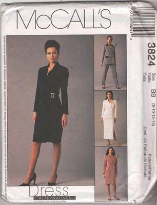 McCall's 3824 Miss Dress Size BB 8 10 12 14 Uncut Sewing Pattern