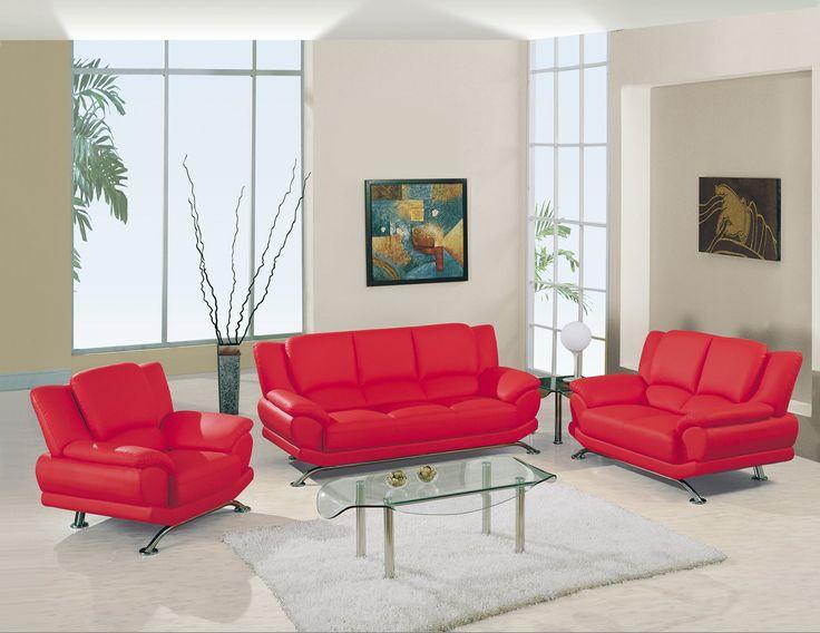 U9908 Red Living Room Set