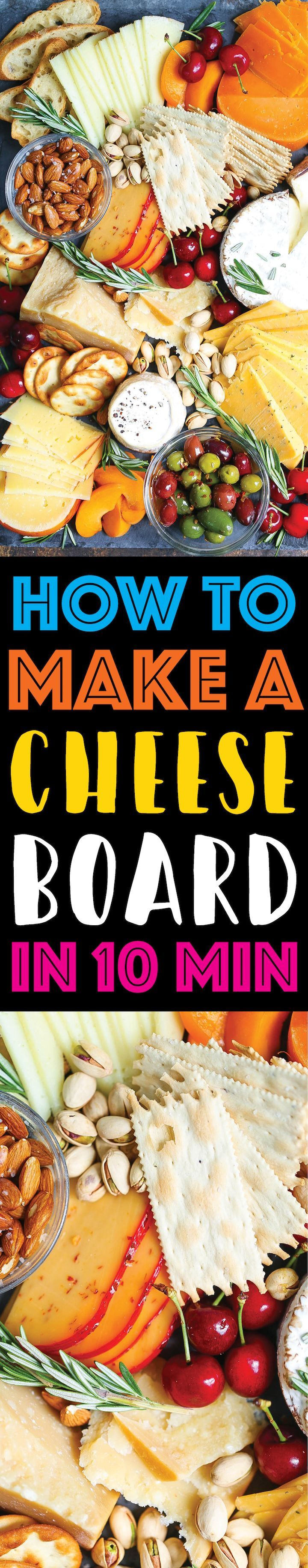 How to Make an Easy Cheese Board in 10 Minutes - Here are the tips and tricks on how to make a KILLER cheese board for National Dairy Month. You can choose just about any cheese on the market because they're responsibly produced, which means you get a better, fresher product!  So easy, beautiful and well-balanced! @DairyGood #ad #UndeniablyDairy