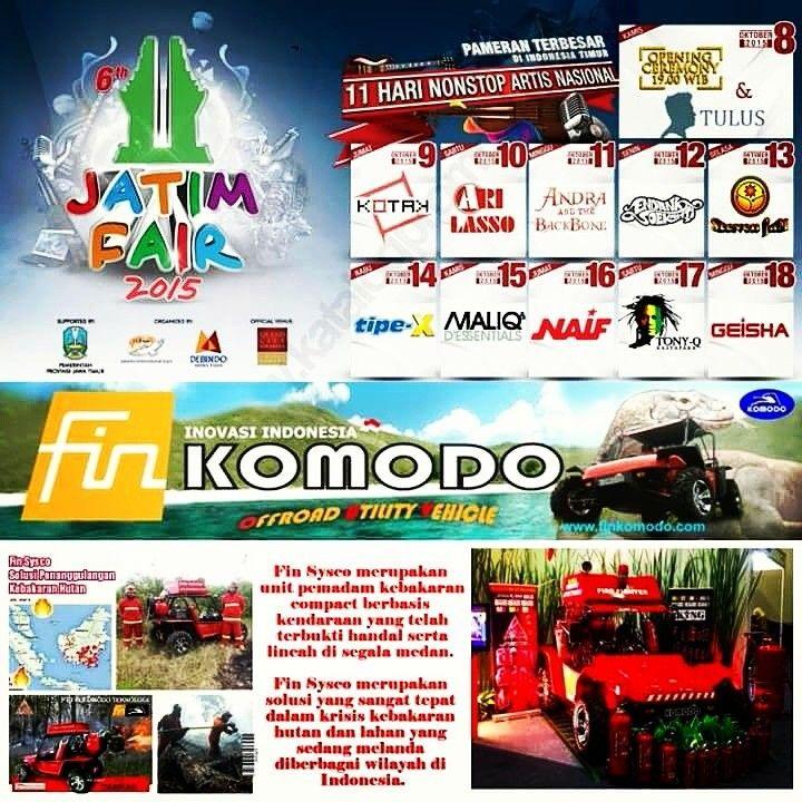 """Fin Sysco Mobile Fire"" akan Hadir di Pameran JATIM FAIR 2015, Tanggal 8 sd 18 Oktober 2015 @Surabaya Grand City #finkomodo #damkar #kebakaranhutan #kebakaranlahan #kebakaranriau"