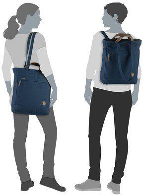 Die sportlich-lässige Totepack No. 1 von Fjällräven lässt sich im Handumdrehen vom Shopper zum Rucksack umwandeln.