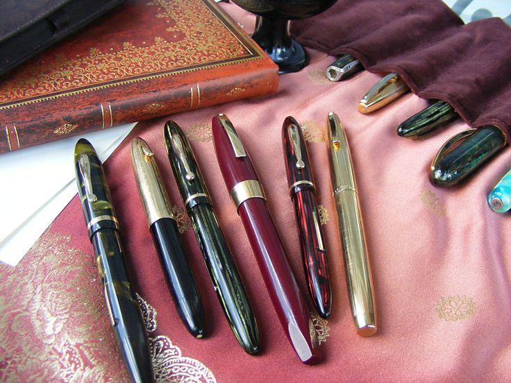 A lovely array of Sheaffer fountain pens #sheaffer #pens #fountainpen