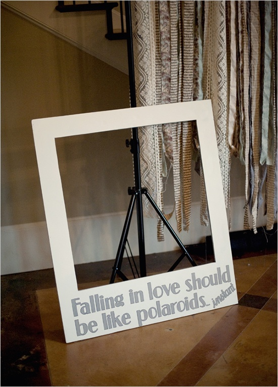polaroid photo booth wedding pinterest. Black Bedroom Furniture Sets. Home Design Ideas