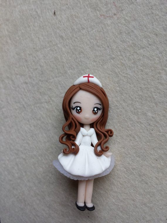 Pin breast nurse in fimo polymer clay by Artmary2 on Etsy, €6.00