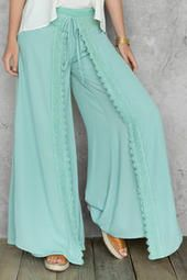 Ivy Crochet Trimmed Palazzo Pants How comfy!