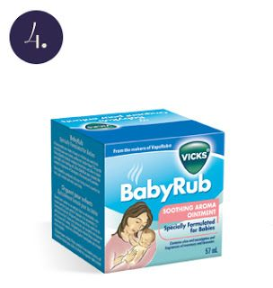 Vicks Baby rub and socks: remedy for kids colds!