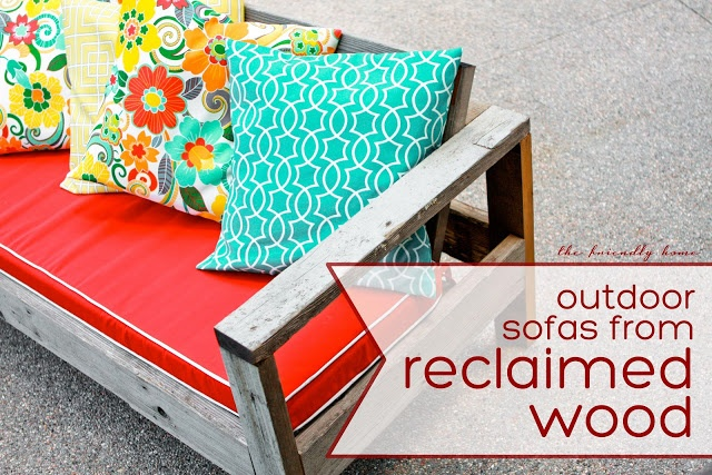 {The Friendly Home} Outdoor sofas from reclaimed wood.