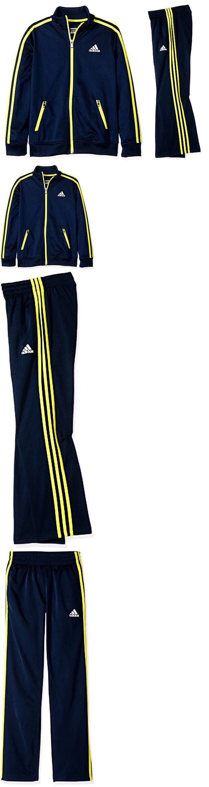 Outfits and Sets 156790: Adidas Big Boys 2-Pc. Sweatshirt And Pants Size Xl (18) Collegiate Navy -> BUY IT NOW ONLY: $59.99 on eBay!