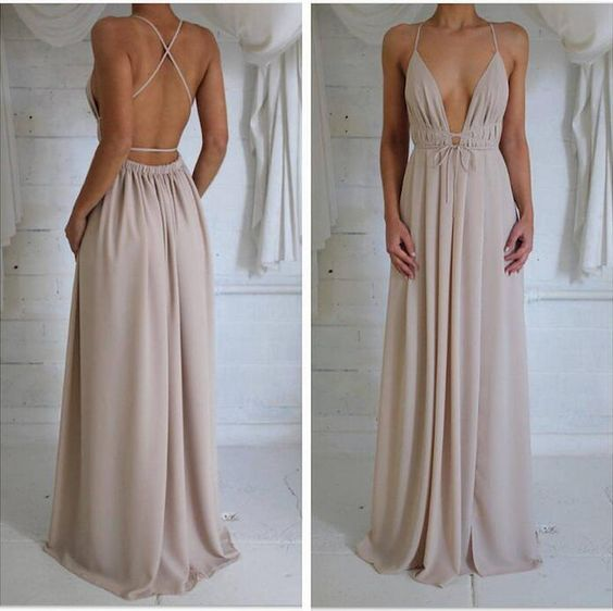 Charming Prom Dress,Chiffon Prom Dress,Long Prom Dresses,Sexy Backless