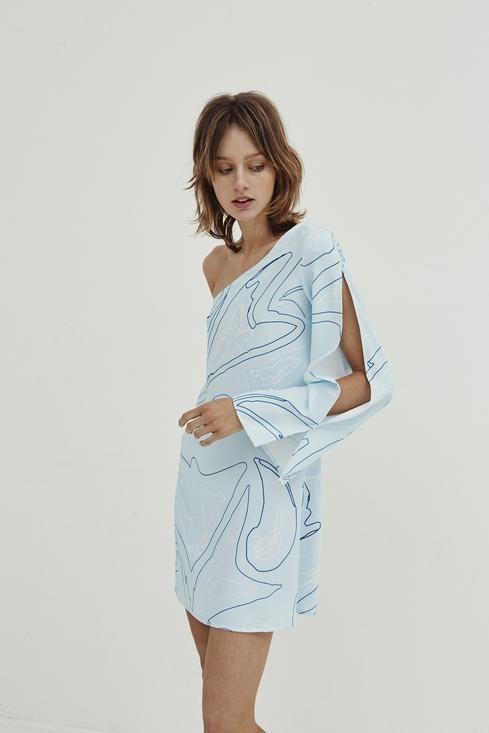 Jillian Boustred / Spliced One Shoulder Dress - Akagu
