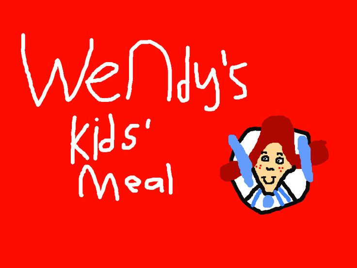 Wendy's Kids' Meal logo by PikachuxAsh