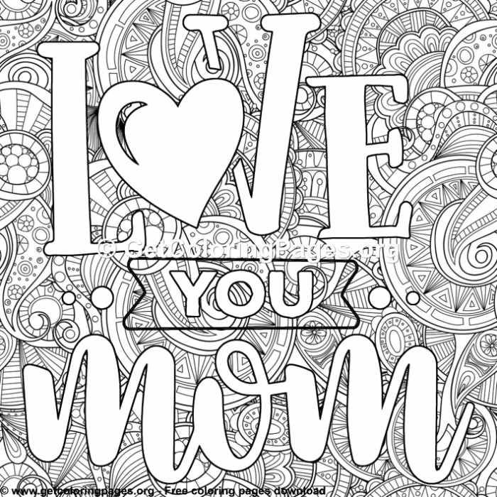 Mother Love You Mom Coloring Pages In 2020 Mom Coloring Pages Love Coloring Pages Mothers Day Coloring Pages