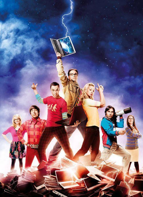 THE BIG BANG GANG. Lol....Leonard's like Thor and Penny's like an Angel from Charlie's Angels