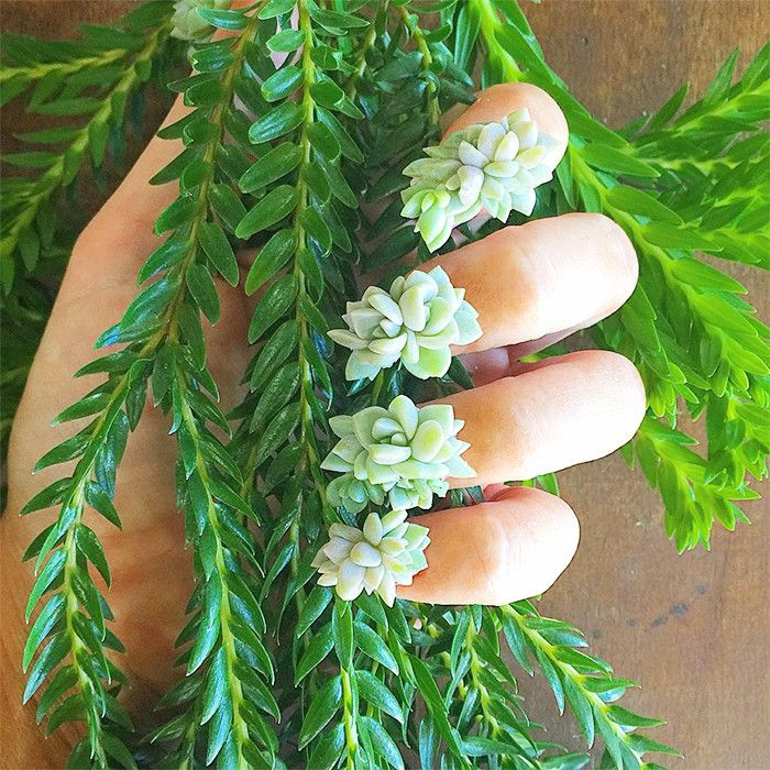 Succulent Nails Are the New Manicure Trend You Have to See to Believe via @ByrdieBeauty