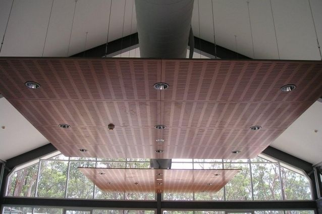 Murano Wood Panels Suspended Ceiling Installation Rsl