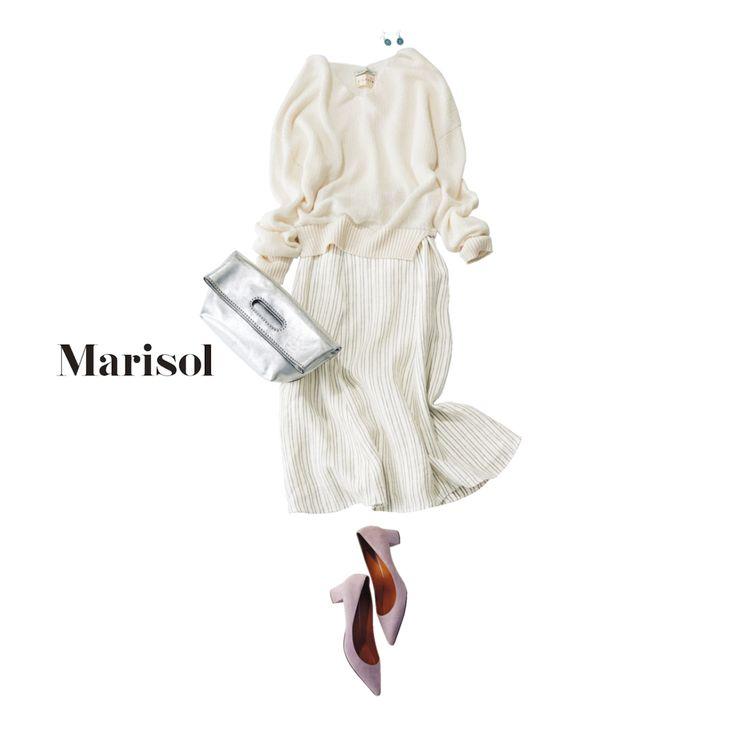 40代が着こなすイノセントな白コーデには甘さと辛さを共存させてMarisol ONLINE 女っぷり上々!40代をもっとキレイに。