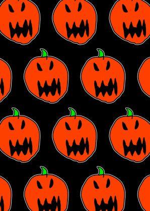 Halloween pompoenen all over - Halloween kaarten - Kaartje2go by JS. Monsterlijk leuk!
