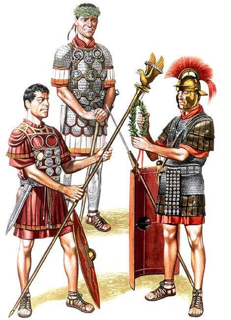 Aquilifer, Legio XIV Gemina, first half 1st C. AD • Centurio,