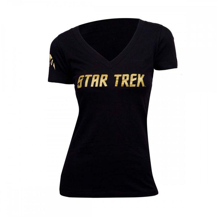 Star Trek 50th Anniversary Logo Women's V-Neck T-Shirt