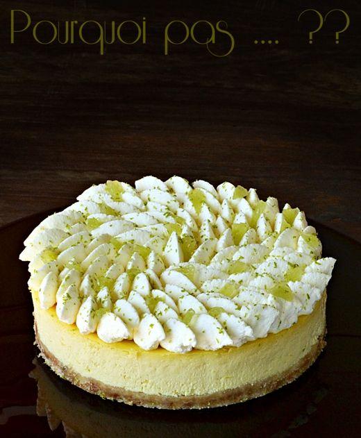 L'idée vient du Cheesecake limoncello  de Christophe Michalak.  Recette adaptée à nos goûts car ici on aime une couche moins épaisse de bi...