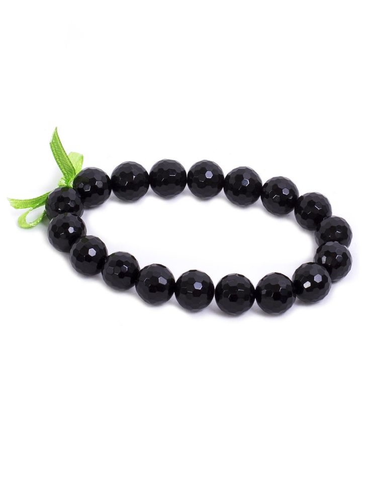 Midnight Black Bracelet #black #bracelet #bracelets #accessories #stones #semiprecious