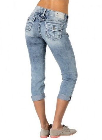 Suki midrise relaxed hip and thigh capri is perfect for this spring and summer. $94.95