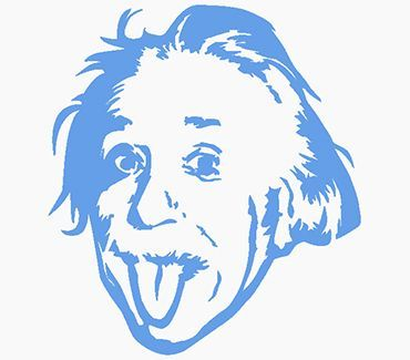 Трафарет для тату Альберт Эйнштейн