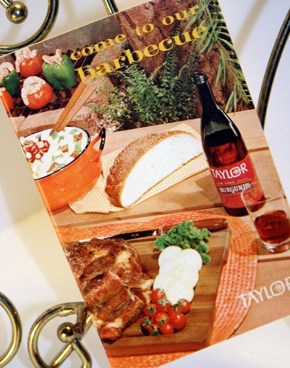 Retro Barbecue Booklets Pair Ships US Free ''Cook-Out by TangoPony
