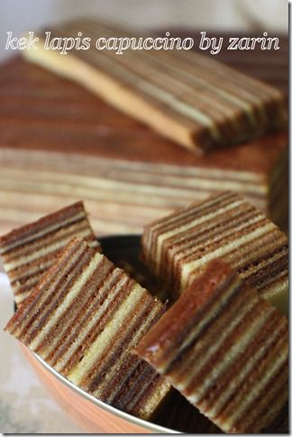 periuk belanga zarin: kek lapis capuccino