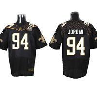 Nike New Orleans Saints #94 Cameron Jordan Black 2016 Pro Bowl Men's Stitched NFL Elite Jersey