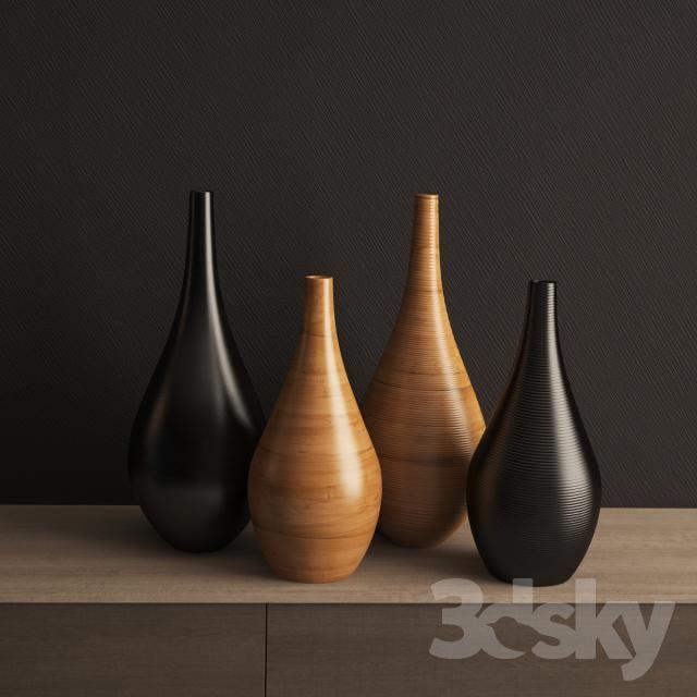 Adriani & Rossi Vase Wood