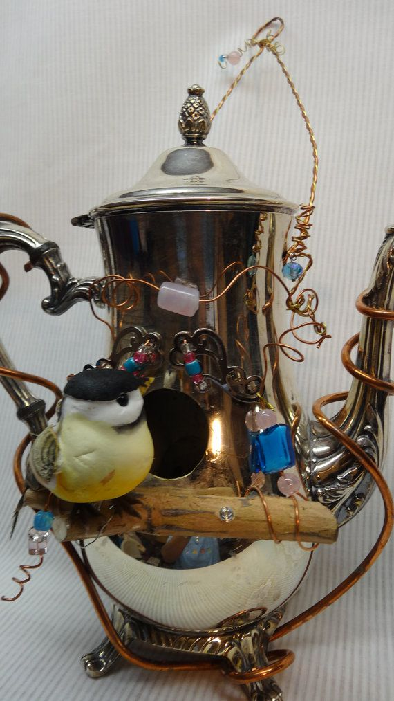 Whimsical, Handmade, Recycled Silver Plated Teapot ...