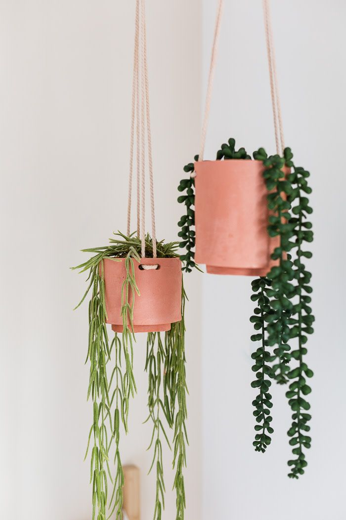 DIY Craft: DIY Terracotta Clay Hanging Planters
