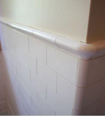 94 best bathroom images on pinterest bath rugs bathroom for Peach tile bathroom ideas