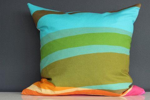 Circus Rainbow Cushion Cover II - 45cm x 45cm – Blue Scarlet
