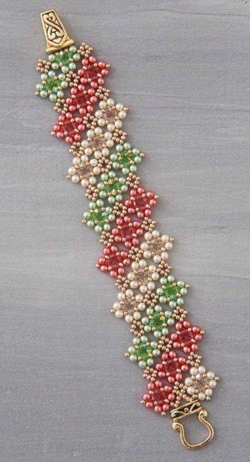 Kassie Shaw's Vintage Lace Bracelet Kit; right-angle weave | InterweaveStore.com
