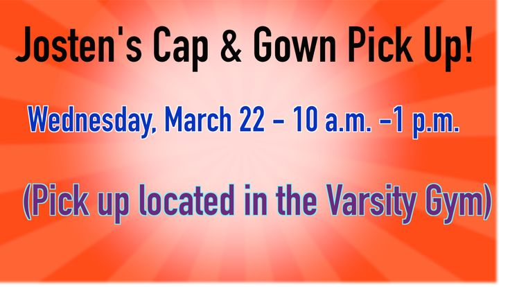 Seniors! Jostens Cap and Gown Pickup will be held on Wednesday, March 22 in the north lobby across from the Varsity Gym! You can pick up your Cap and Gown anywhere from 10 a.m. until 1 p.m! The end of the school year is quickly approaching and we want to make sure you have the correct attire to be able to walk across that stage and graduate with the class of 2017! #PCSCweCARE @PlymouthCSC_IN