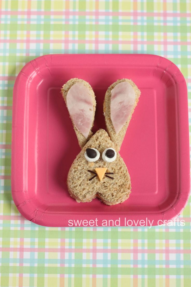 sweet and lovely crafts: fun Easter sandwiches