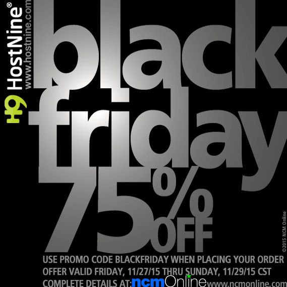 HostNine Black Friday 75% Off Coupon Code