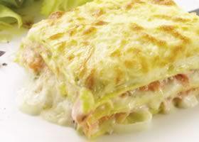 Lasagne met gerookte zalm