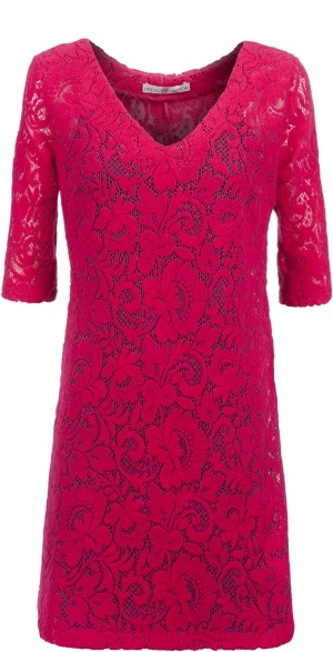 Pink A-line wool lace