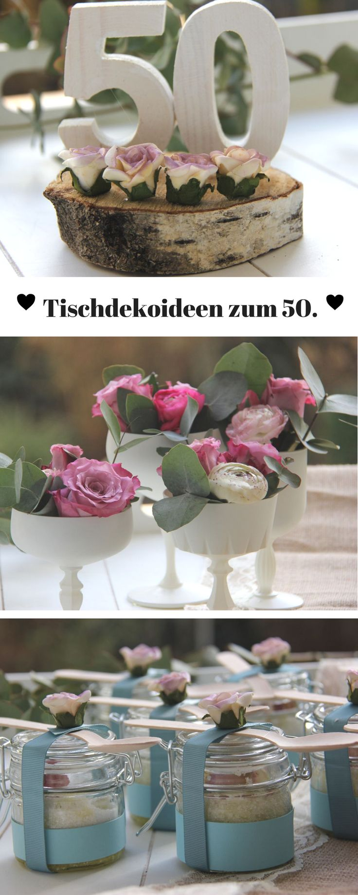 Vintage Tischdekoration zum 50 Geburtstag  Tischlein