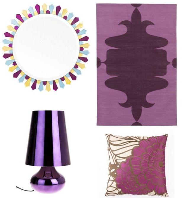 Delight By Design Plum Rug Purple Pillows Design