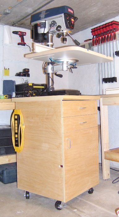 I need all my power tools on cabinets so that they can store the stuff underneath that needs to go with the tools