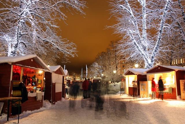 Esplanadi in the christmas time